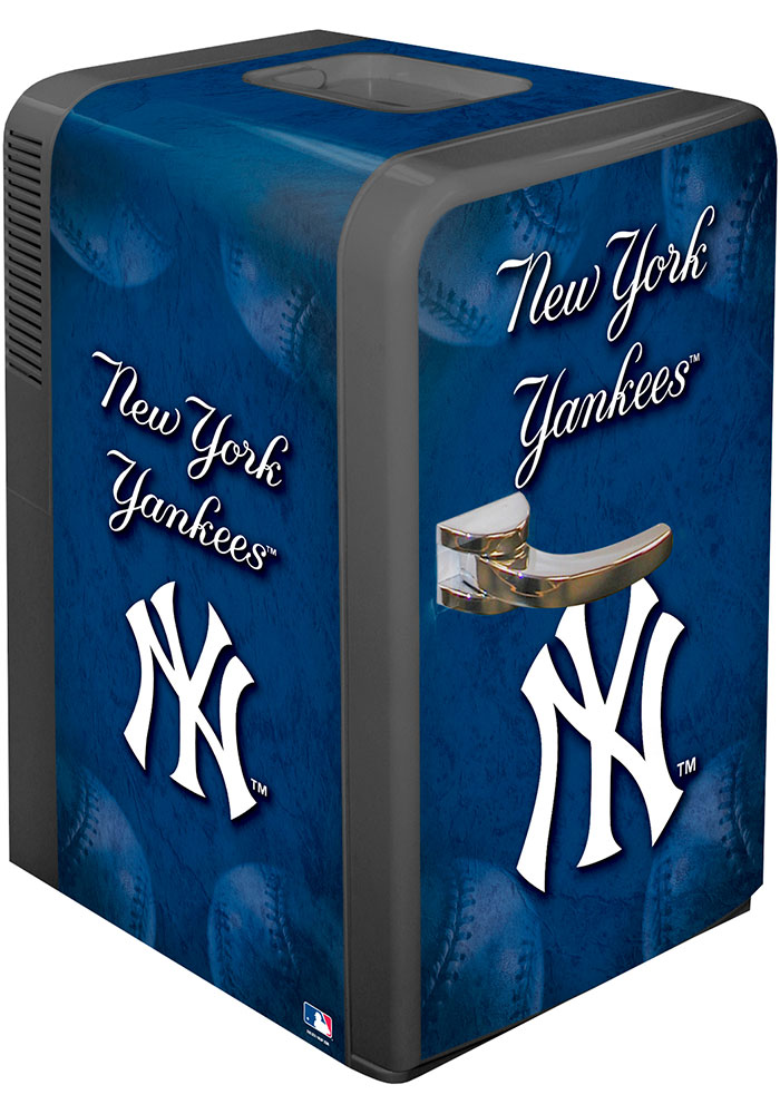New York Yankees Blue Portable Party Refrigerator - Image 1
