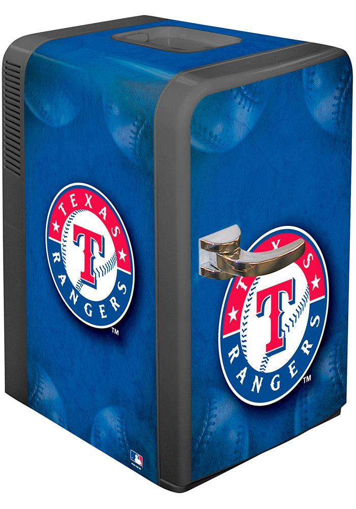 Texas Rangers Blue Portable Party Refrigerator - Image 1