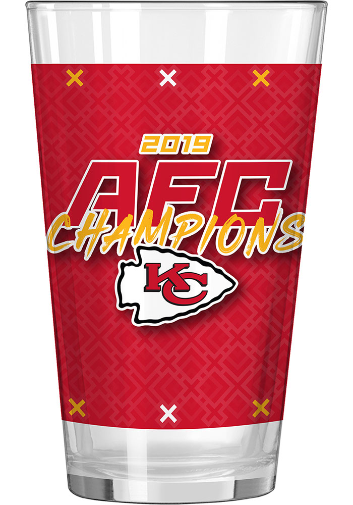Kansas City Chiefs 2019 AFC Champions 16oz Pint Glass - Image 1