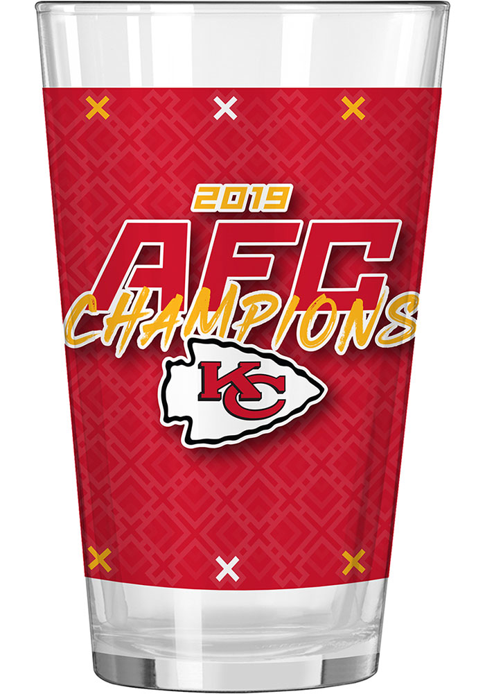 Kansas City Chiefs 2019 AFC Champions 16oz Pint Glass - Image 3