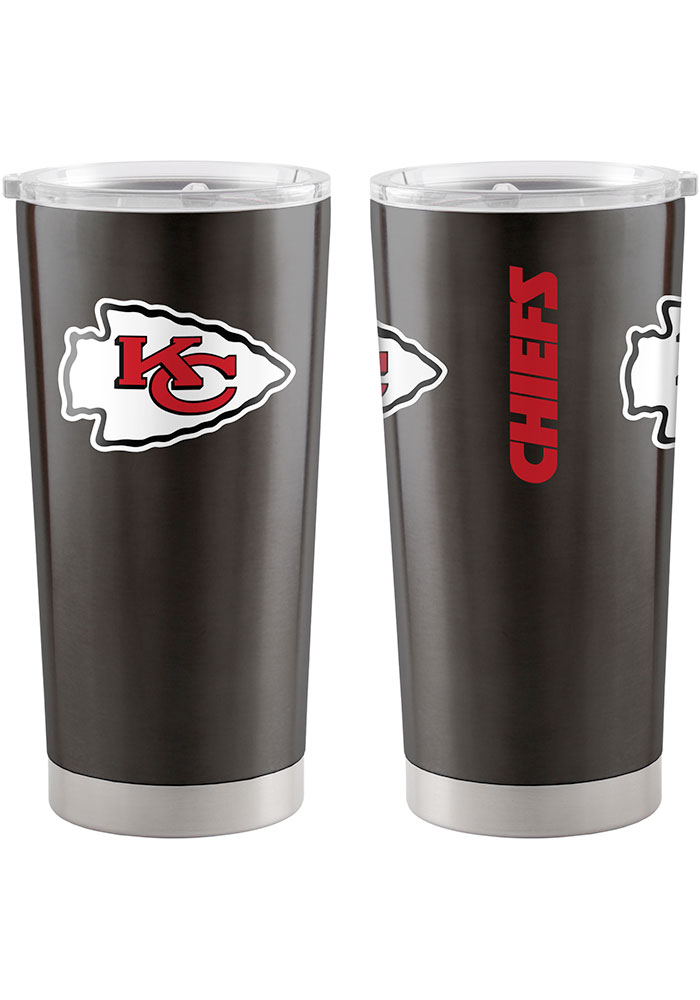 Kansas City Chiefs 20oz Ultra Stainless Steel Tumbler - Black - Image 1