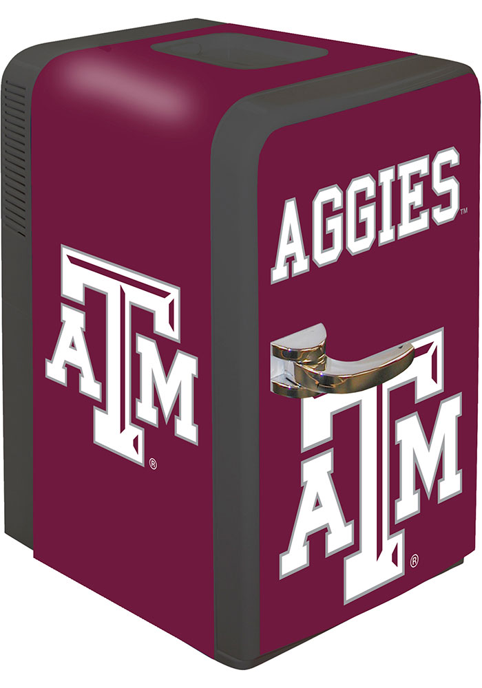 Texas A&M Aggies Maroon Portable Party Refrigerator - Image 1