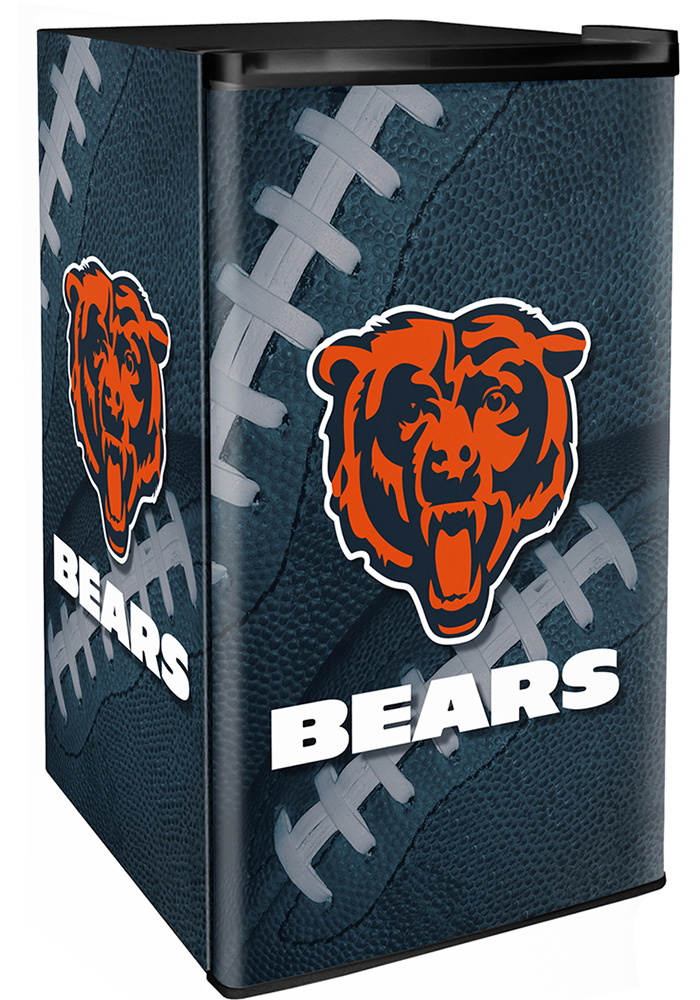 Chicago Bears Navy Blue Counter Height Refrigerator - Image 1