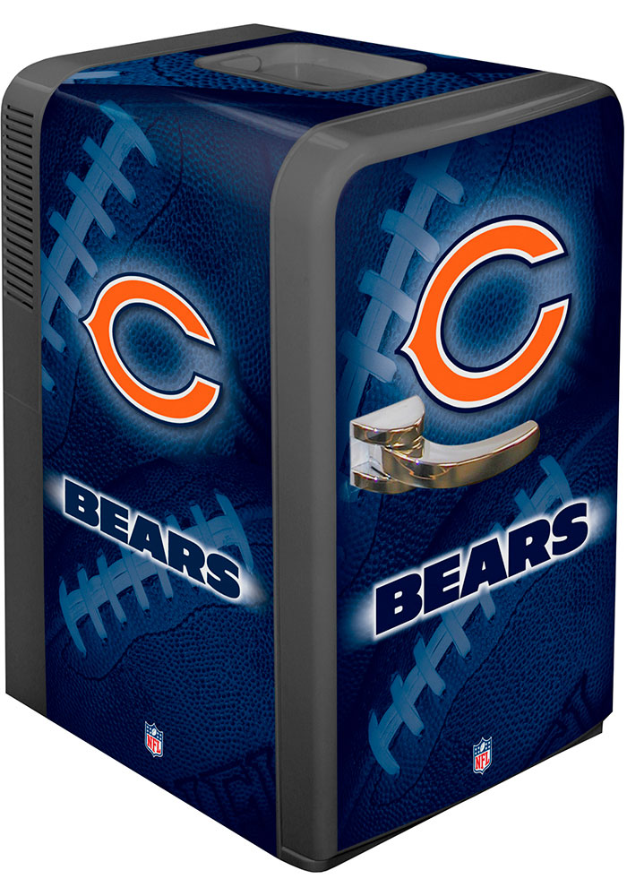 Chicago Bears Navy Blue Portable Party Refrigerator - Image 1