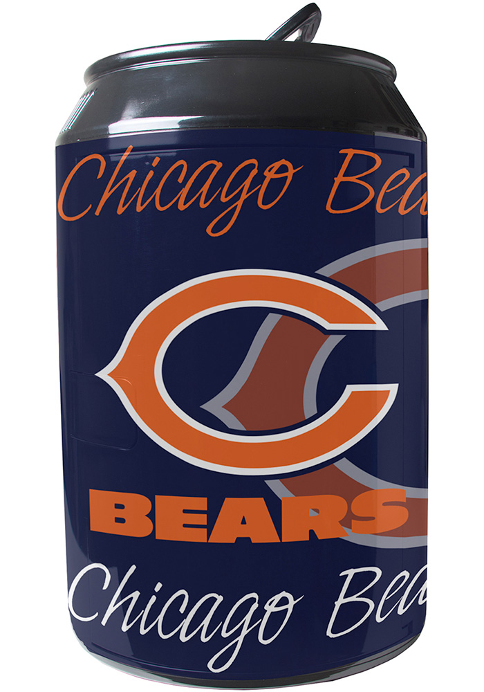 Chicago Bears Navy Blue Portable Can Refrigerator - Image 1