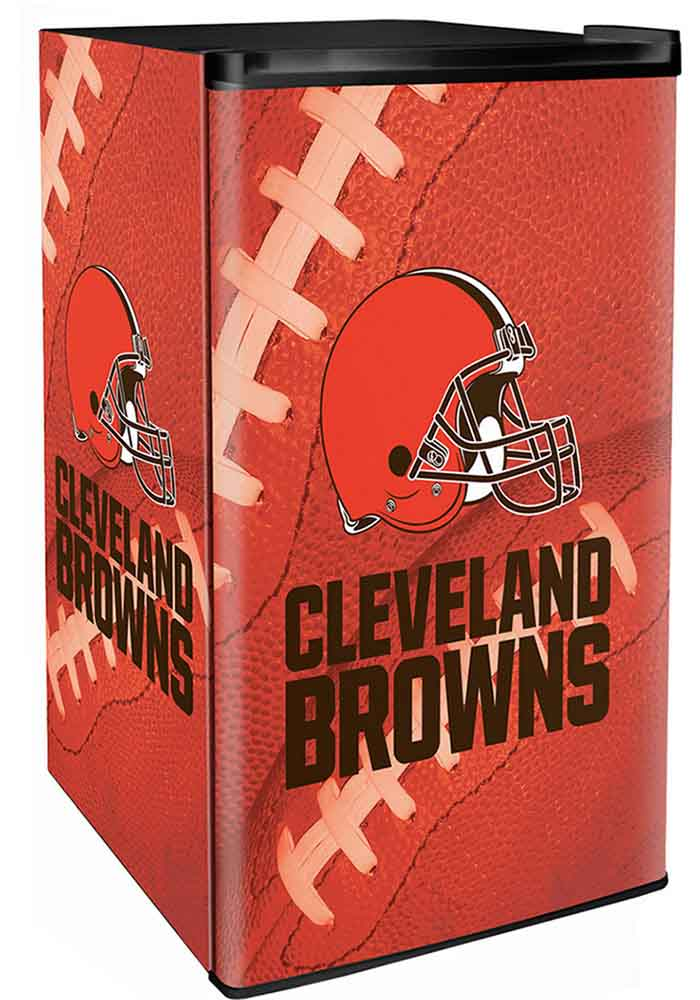 Cleveland Browns Orange Counter Height Refrigerator - Image 1
