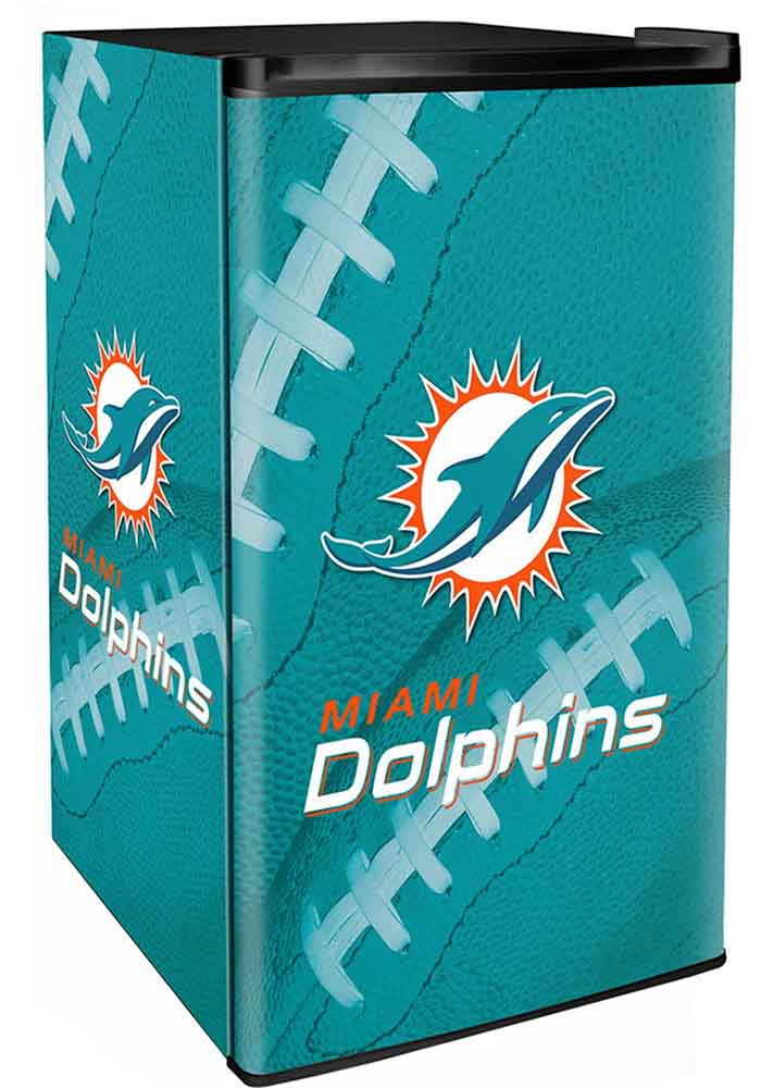 Miami Dolphins Green Counter Height Refrigerator - Image 1