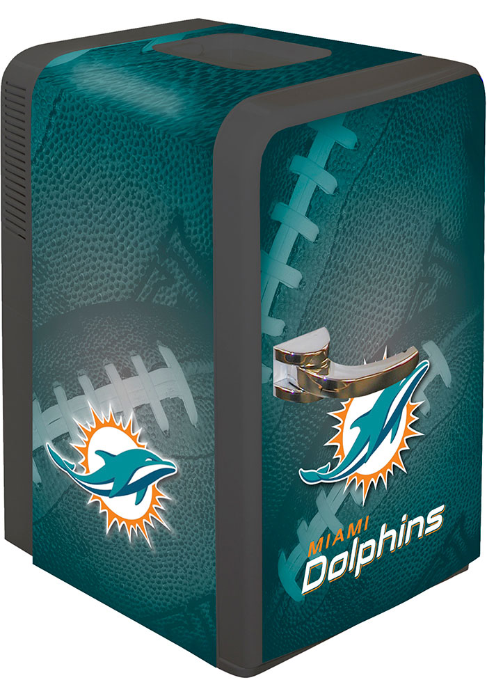 Miami Dolphins Green Portable Party Refrigerator - Image 1