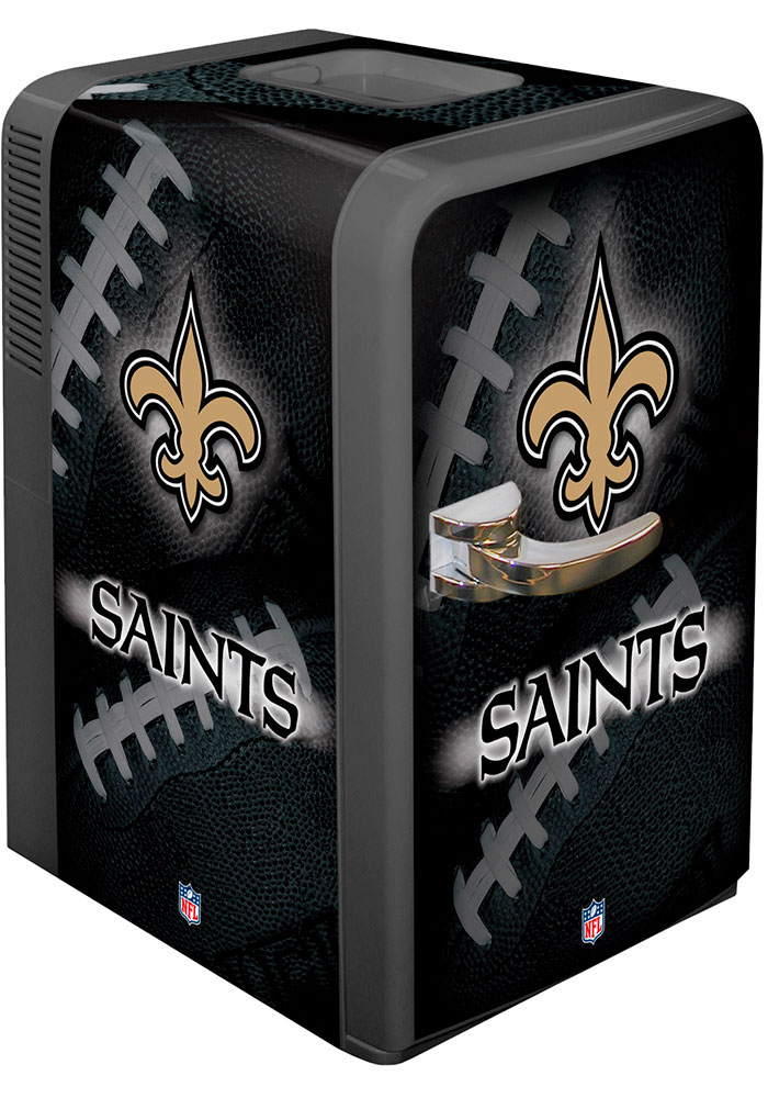 New Orleans Saints Black Portable Party Refrigerator - Image 1