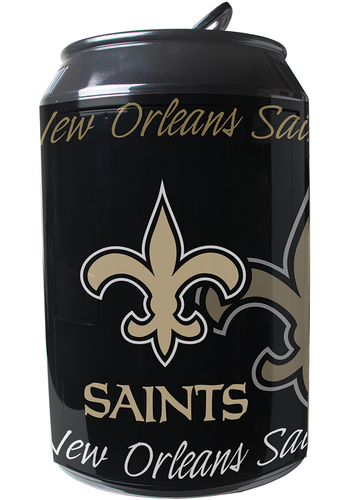 New Orleans Saints Black Portable Can Refrigerator - Image 1