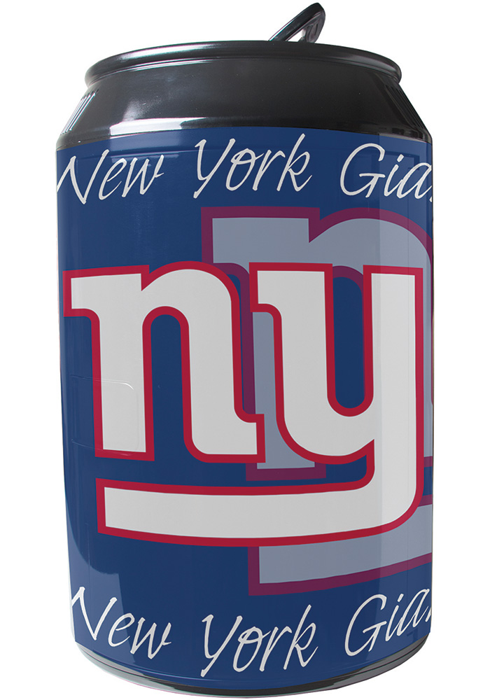 New York Giants Blue Portable Can Refrigerator - Image 1