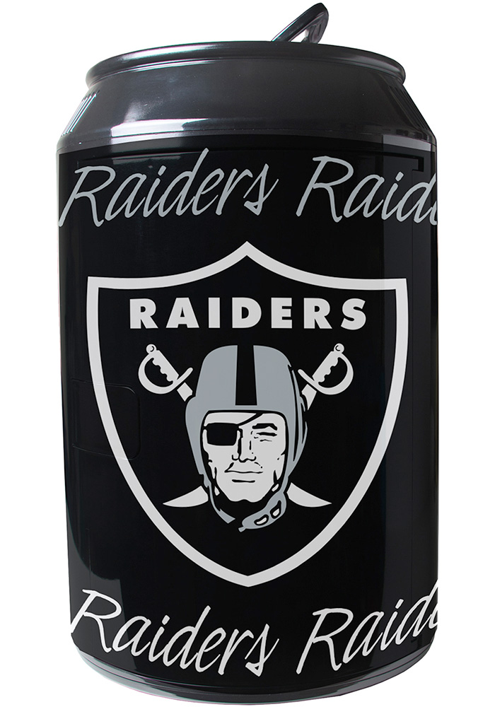 Oakland Raiders Black Portable Can Refrigerator - Image 1