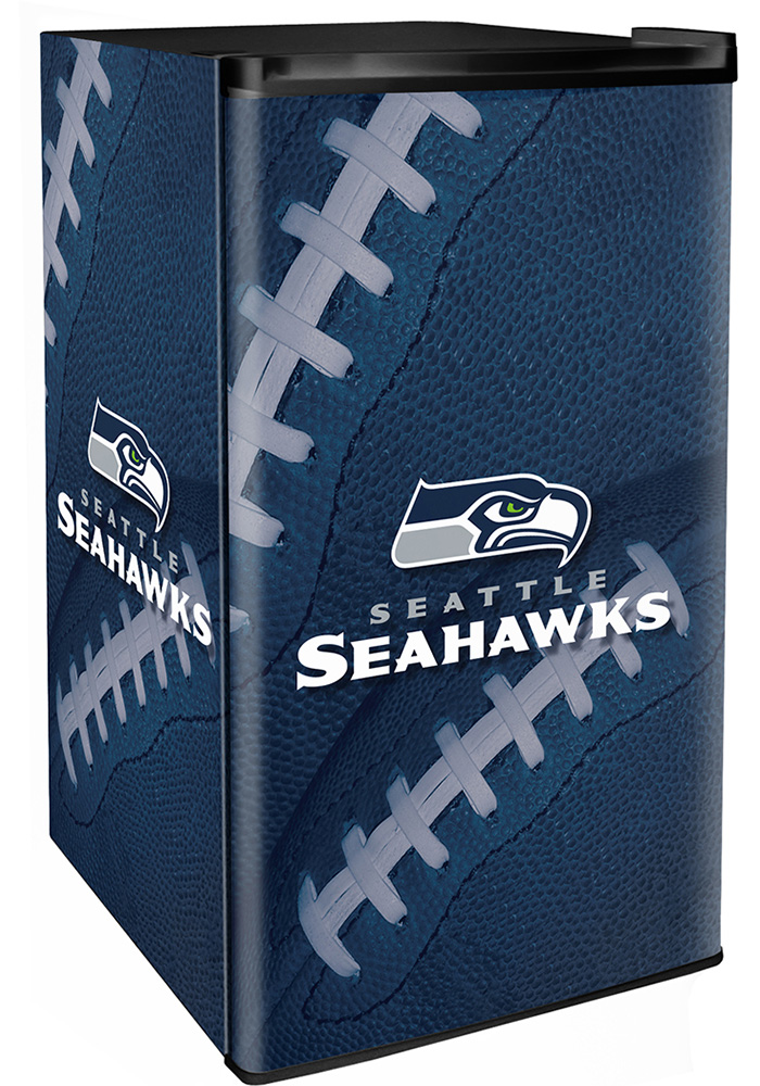 Seattle Seahawks Navy Blue Counter Height Refrigerator - Image 1