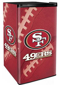 San Francisco 49ers Red Counter Height Refrigerator