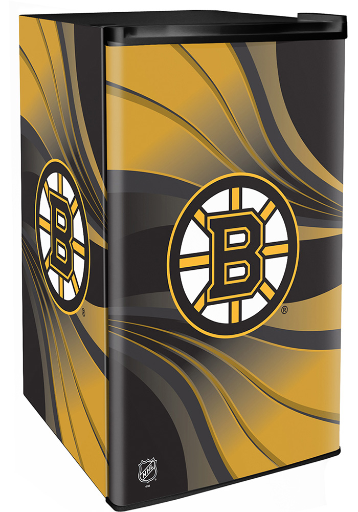 Boston Bruins Black Counter Height Refrigerator - Image 1
