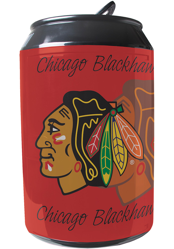 Chicago Blackhawks Red Portable Can Refrigerator - Image 1