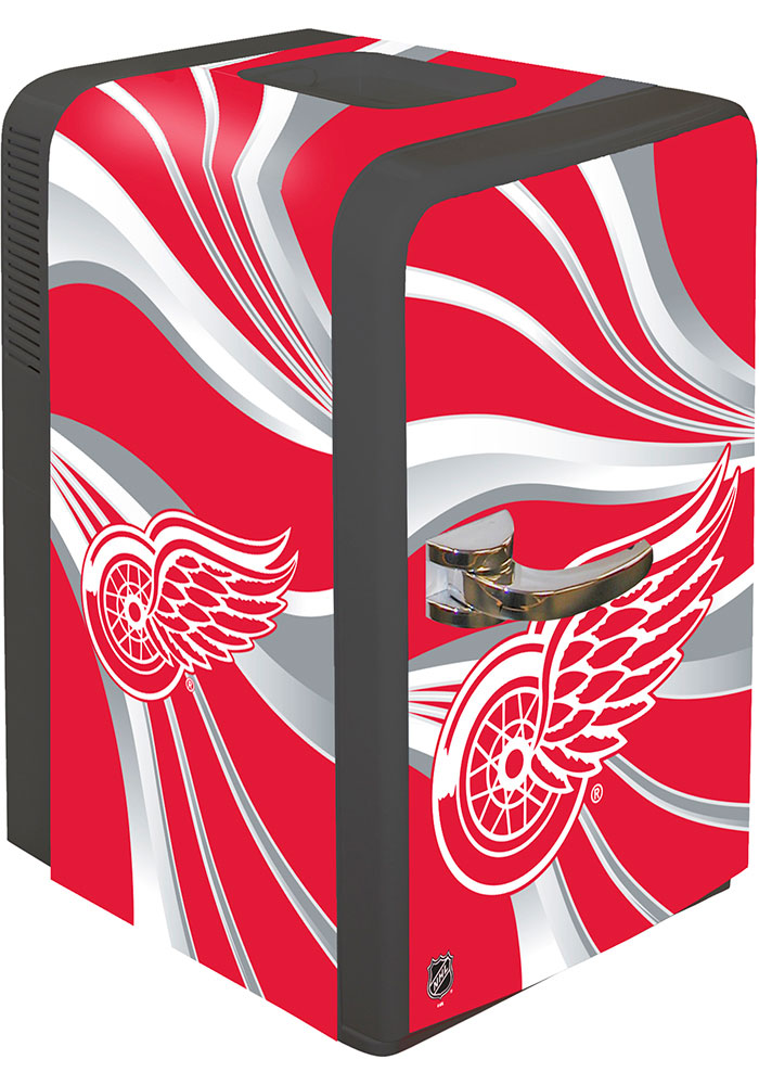 Detroit Red Wings Red Portable Party Refrigerator - Image 1