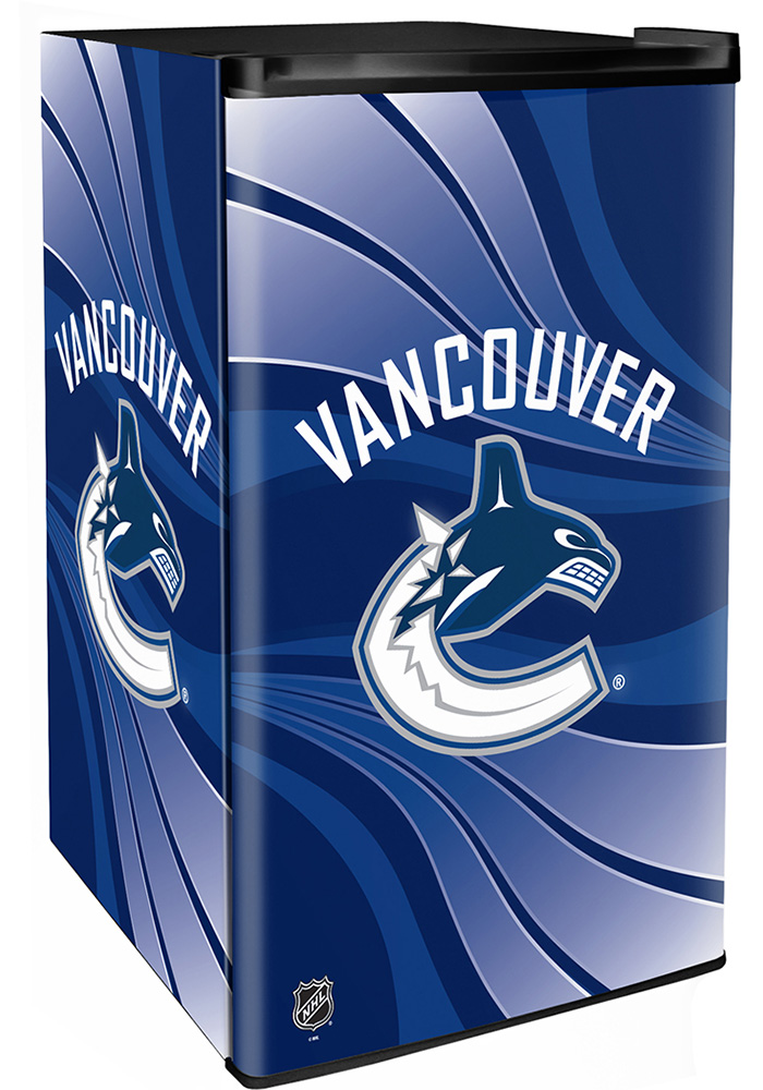 Vancouver Canucks Blue Counter Height Refrigerator - Image 1