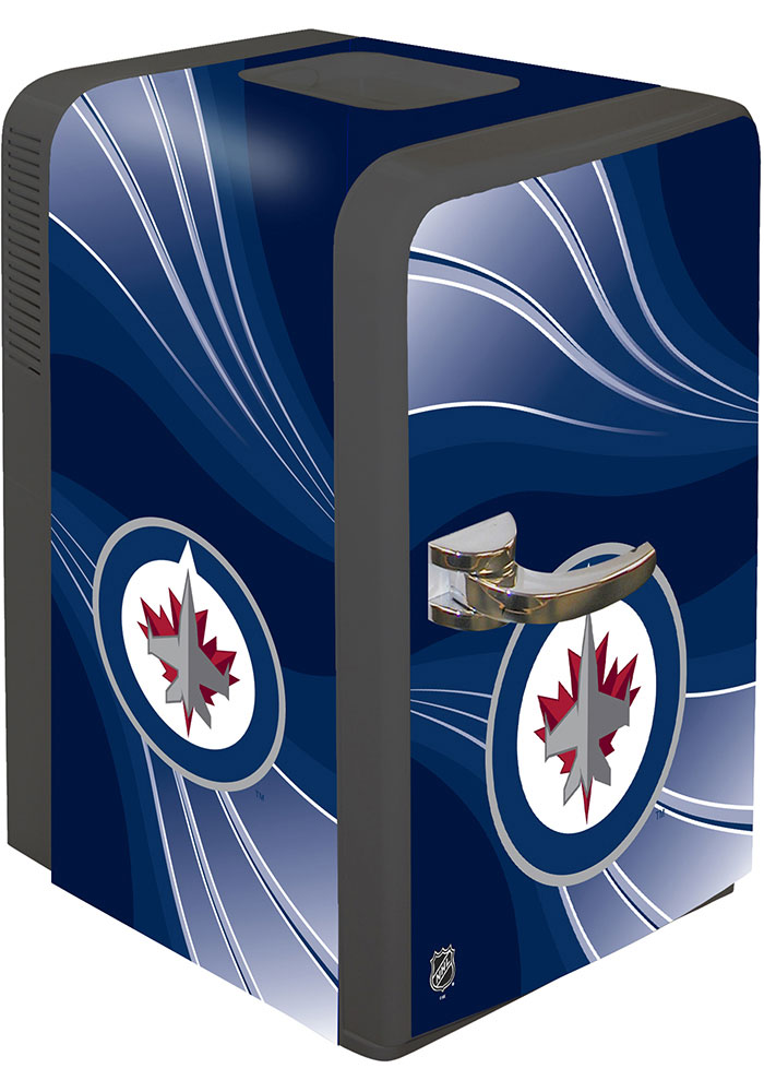 Winnipeg Jets Blue Portable Party Refrigerator - Image 1