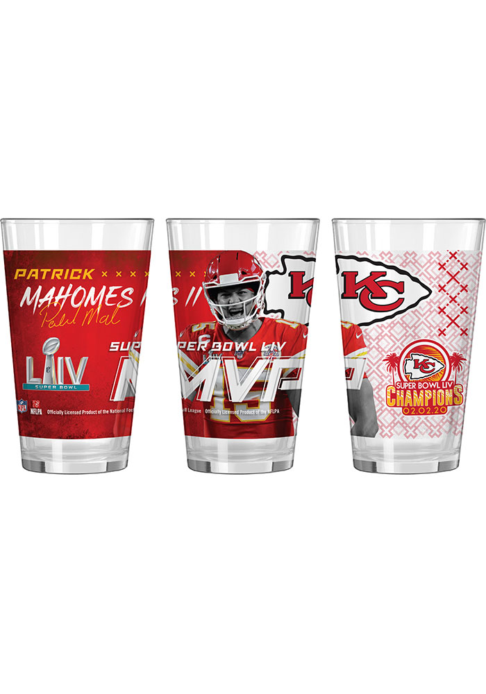 Kansas City Chiefs Super Bowl LIV Champions MVP Digital Pint Glass - Image 1