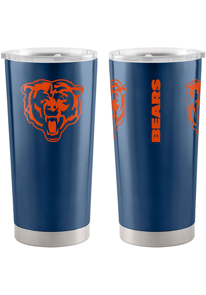Chicago Bears 20oz Ultra Stainless Steel Tumbler - Navy Blue - Image 1