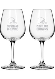 Cleveland Browns 12oz Combo Mark Wine Glass