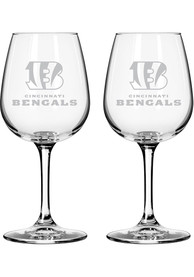 Cincinnati Bengals 12oz Combo Mark Wine Glass