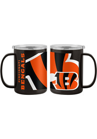 Cincinnati Bengals 15oz Hype Ultra Mug Stainless Steel Tumbler - Orange