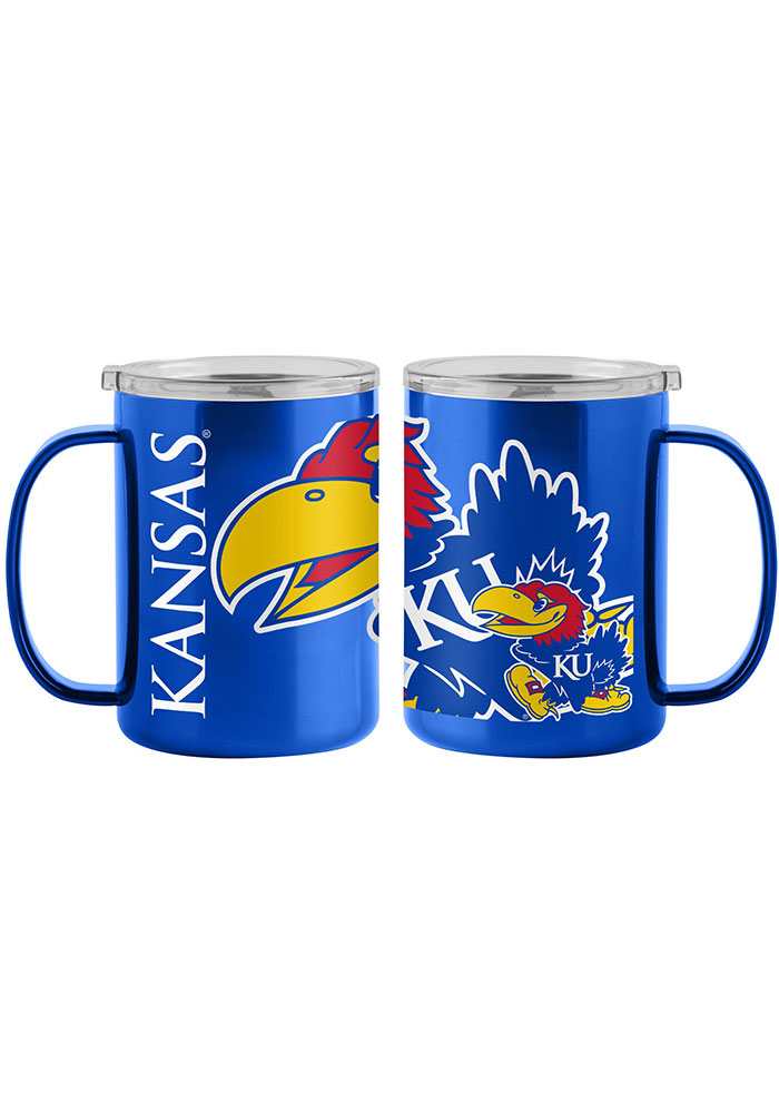 Kansas Jayhawks 15oz Hype Ultra Mug Stainless Steel Tumbler - Blue