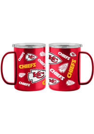 Kansas City Chiefs 15oz Sticker Ultra Mug Stainless Steel Tumbler - Red
