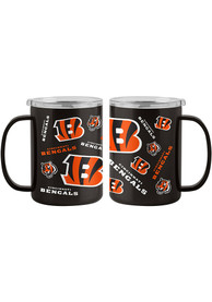 Cincinnati Bengals 15oz Sticker Ultra Mug Stainless Steel Tumbler - Orange