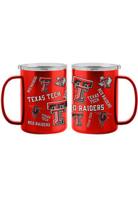 Texas Tech Red Raiders 15oz Sticker Ultra Mug Stainless Steel Tumbler - Red