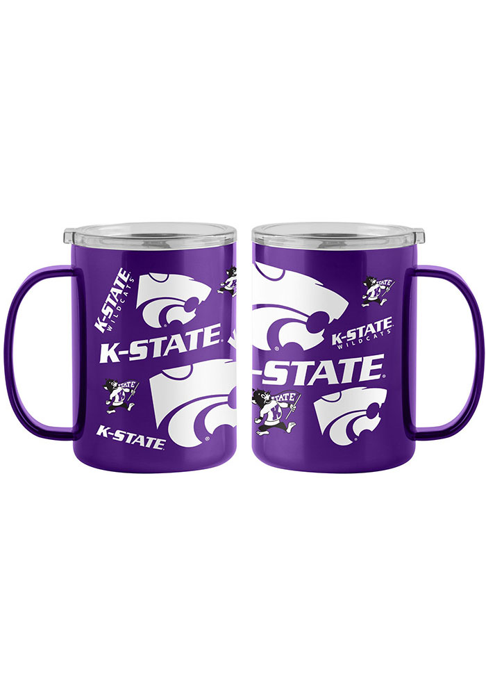 K-State Wildcats 15oz Sticker Ultra Mug Stainless Steel Tumbler - Purple
