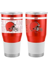 Cleveland Browns 30oz Ultra Stainless Steel Tumbler - Orange