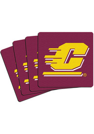 Central Michigan Chippewas 4 Pack Neoprene Coaster