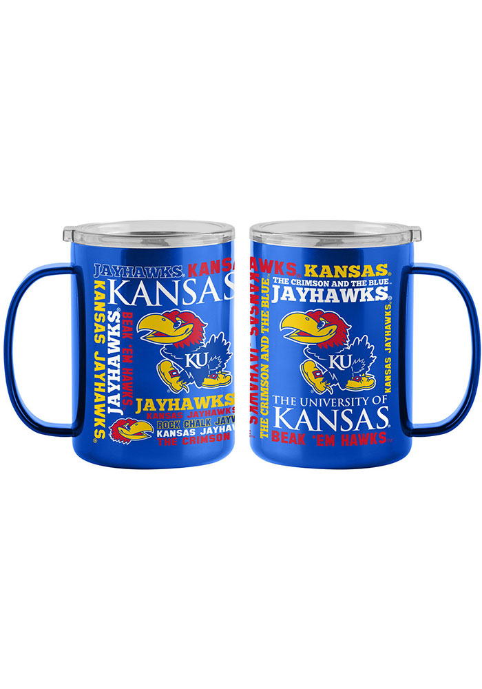 Kansas Jayhawks 15oz Spirit Ultra Mug Stainless Steel Tumbler - Blue