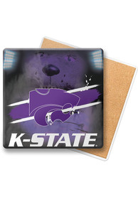 K-State Wildcats Wood Coaster