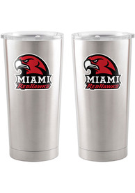 Miami RedHawks 20oz Ultra Stainless Steel Tumbler - Red