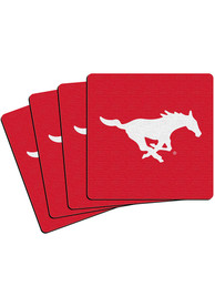 SMU Mustangs 4 Pack Neoprene Coaster