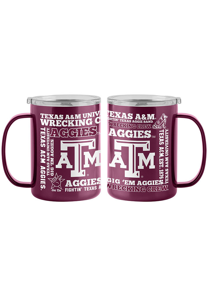 Texas A&M Aggies 15oz Spirit Ultra Mug Stainless Steel Tumbler - Maroon