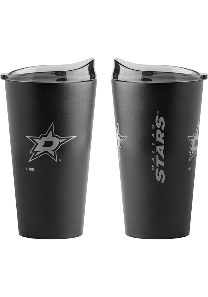 Dallas Stars 16oz Black Premium Powder Coat Stainless Steel Tumbler - Maroon