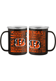 Cincinnati Bengals 15oz Spirit Ultra Mug Stainless Steel Tumbler - Orange