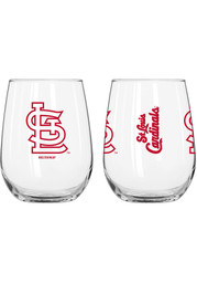 St Louis Cardinals 16 OZ Gameday Curved Stemless Wine Glass