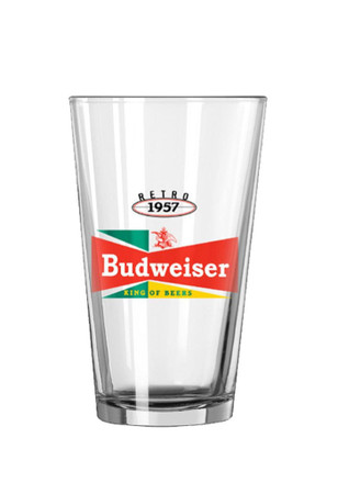 Budweiser King Of Beers Vintage Pint Glass