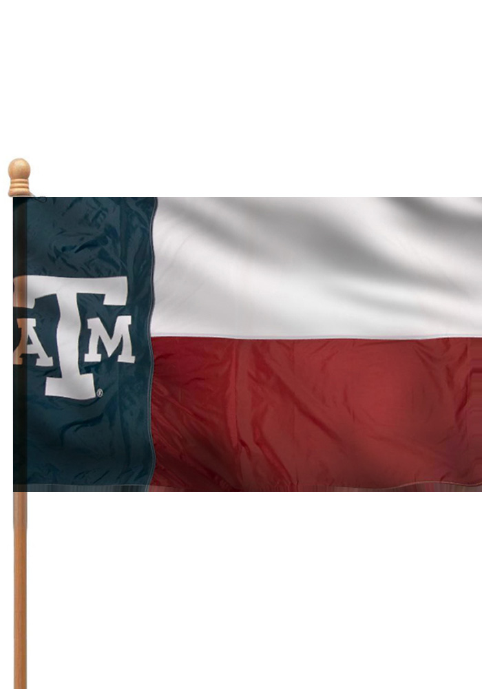 Texas A&M Aggies 3x5 State Style Sleeve Applique Flag - Image 1