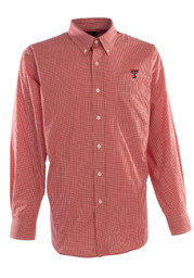 Antigua Texas Tech Red Raiders Mens Red Focus Check Dress Shirt
