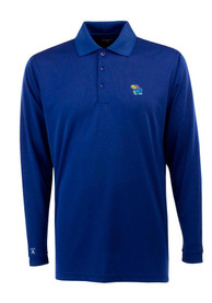 Antigua Kansas Jayhawks Blue Exceed Polo