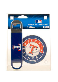 Texas Rangers Bottle Opener and Coaster Set Coaster