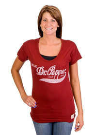 Original Retro Brand Dr Pepper Maroon Script Scoop Tee