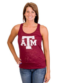 Texas A&M Aggies Juniors Maroon Pocket Burn Tank Top
